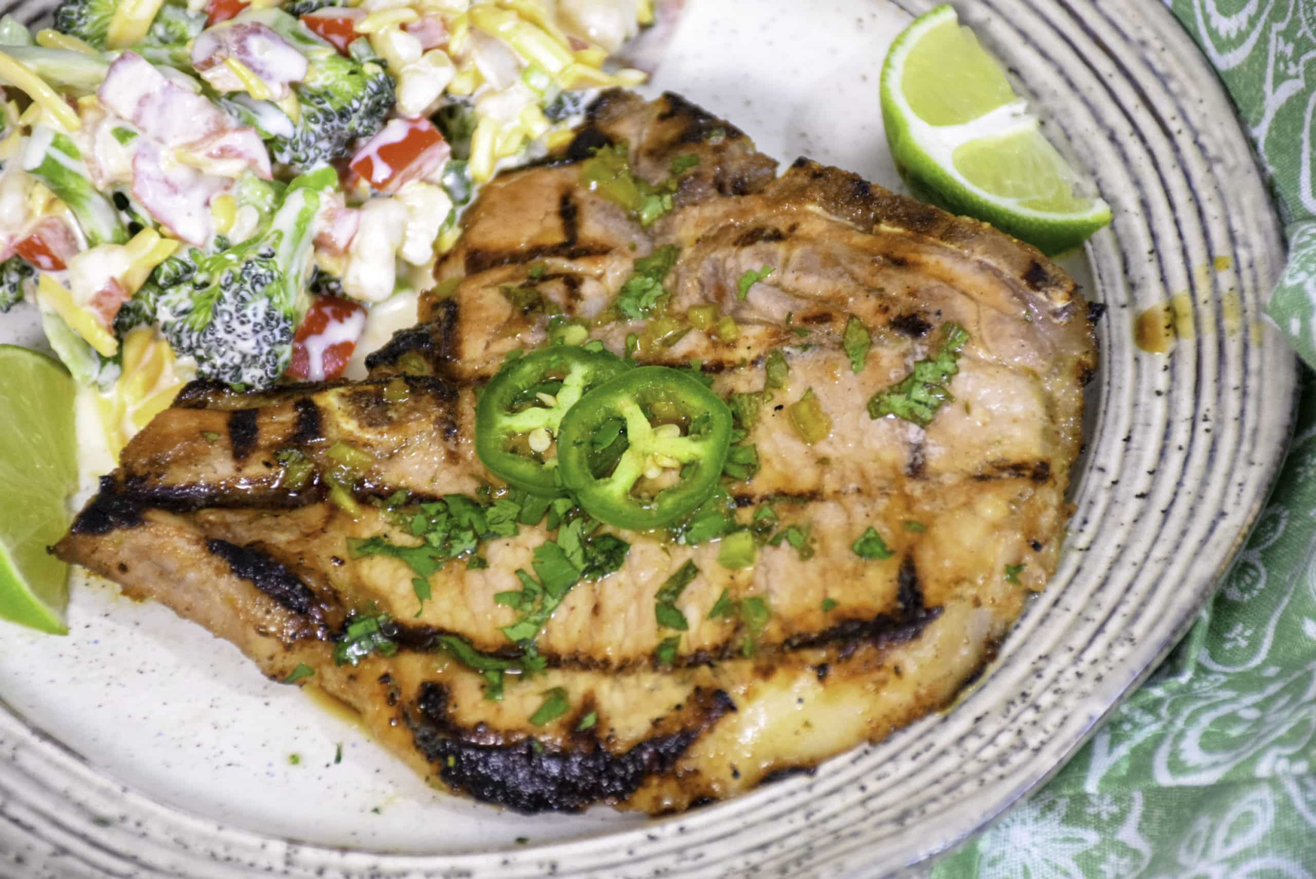 Cilantro Lime Grilled Pork Chops