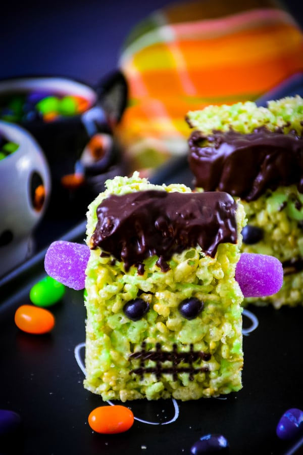Frankenstein Krispie Treats