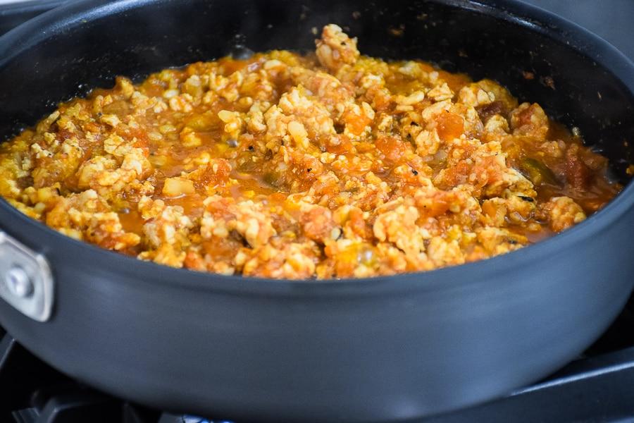 3 Ingredient Spanish Cauliflower Rice with Chicken