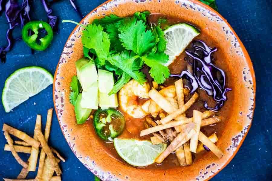 Spicy Shrimp Tortilla Soup
