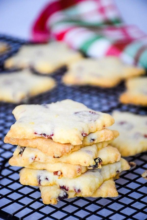 Cranberry Orange Shortbread Christmas Cookie Recipe