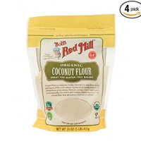 BOB'S RED MILL, Flour, Og2, Coconut, Pack of 4, Size 16 OZ, (Gluten Free Kosher 95%+ Organic)