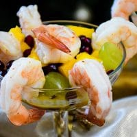 Champagne Marinated Shrimp and Fruit Salad