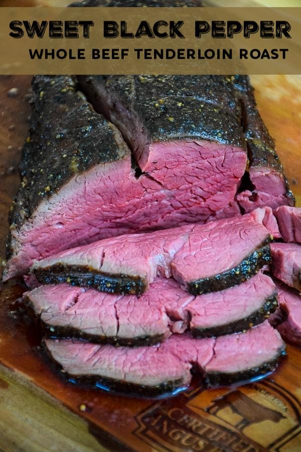 Sweet Black Pepper Whole Beef Tenderloin Slices