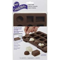 Wilton 2115-8515 Box of Chocolates Silicone Candy Mold