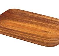 Pacific Merchants K0059 Acaciaware 10.5-by 7.25-by .75-Inch Acacia Wood Rectangle Serving Tray, 1, Brown/tan