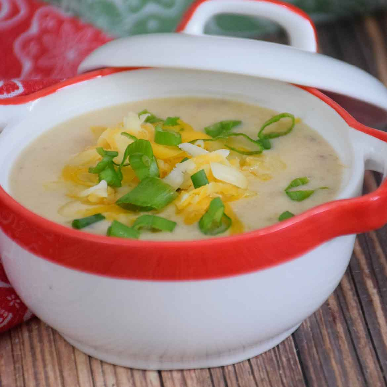 Cheesy Cauliflower Soup - Instant Pot Recipe