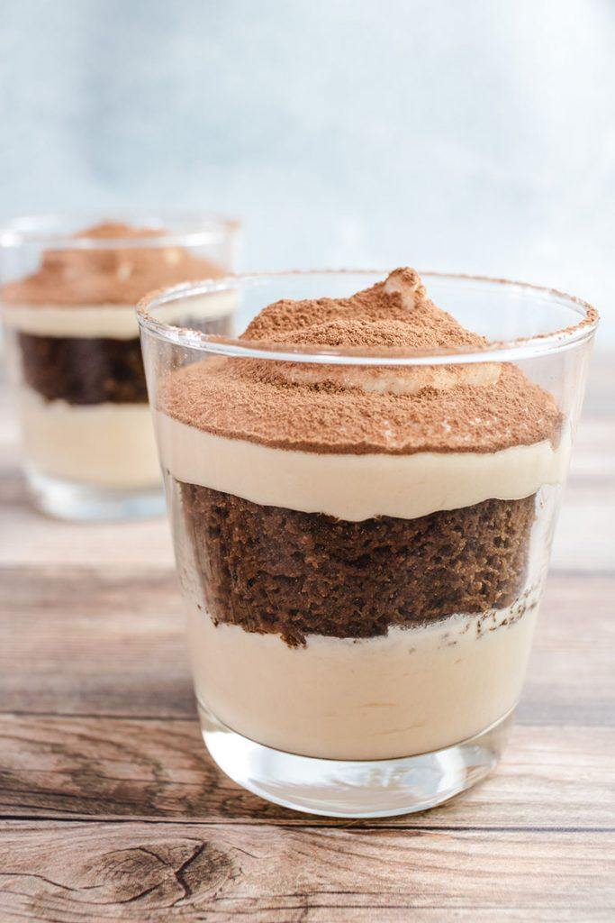 Keto Valentine Recipe: Vertical shot of dessert with blurred image in background