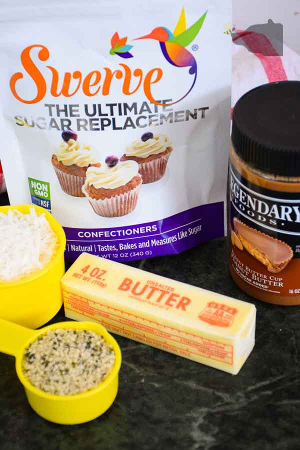 Ingredients for Chocolate Peanut Butter Fat Bomb Recipe
