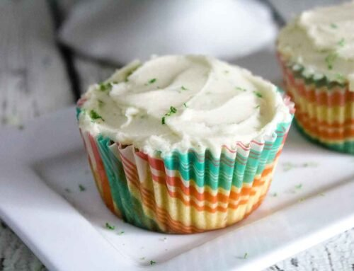 Keto Coconut Cupcakes with Lime Buttercream