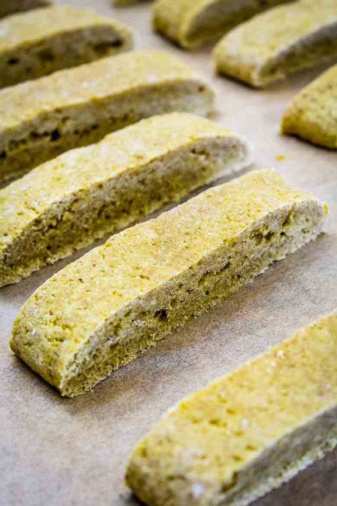 pumpkin biscotti before 2nd baking