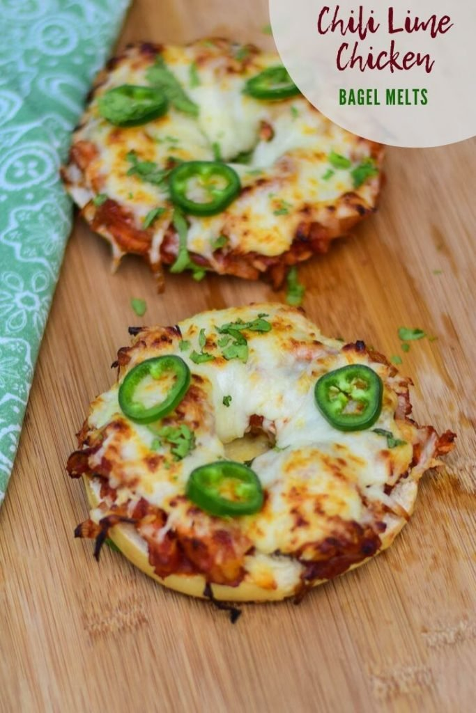 Pinnable image for Chili Lime Chicken Bagel