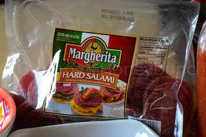 Margherita Hard Salami in packaging