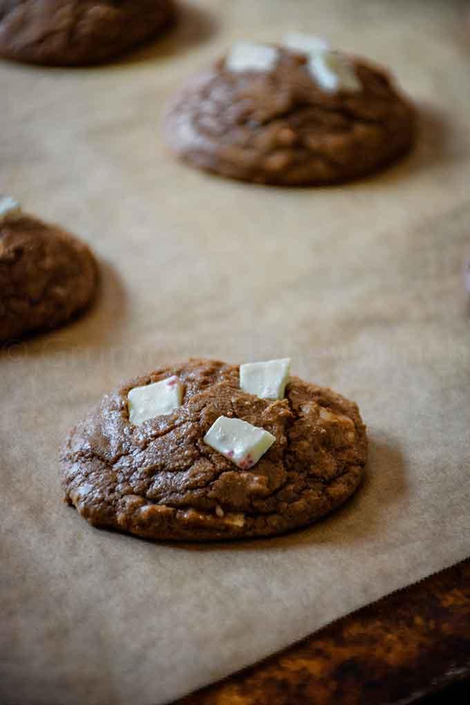 Chocolate Peppermint Bark Cookies