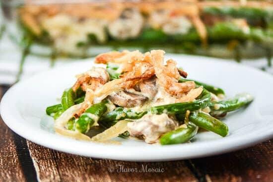 Homemade Green Bean Casserole Thanksgiving Side Dish