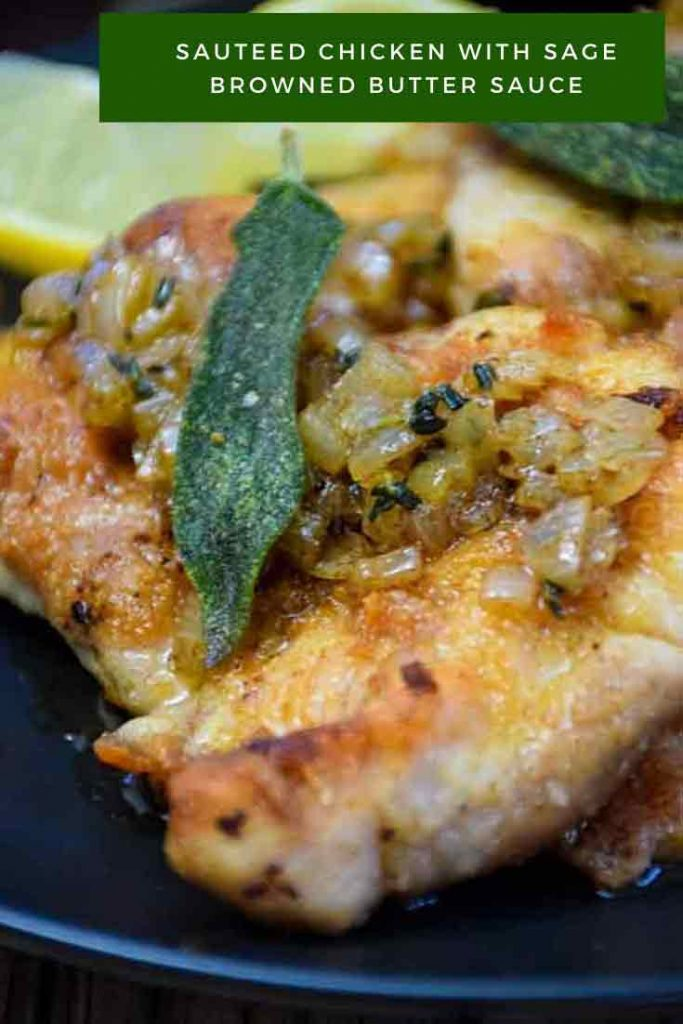 Pinnable Image for Sauteed Chicken