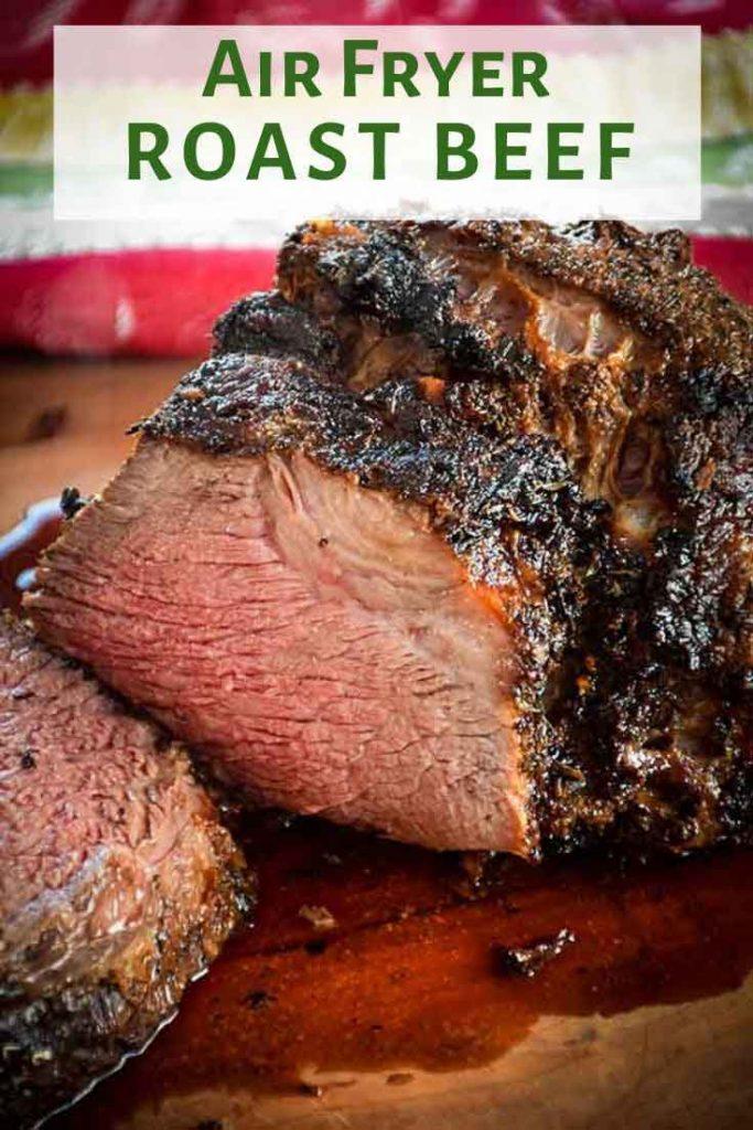 Air Fryer Roast Beef Pinnable Image