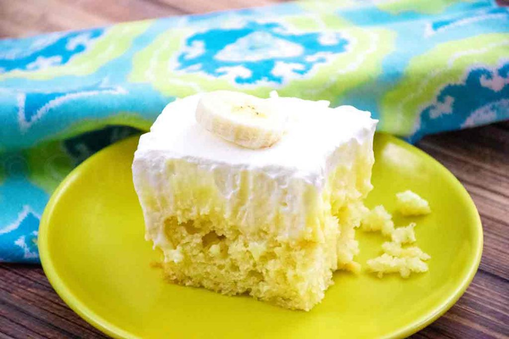 Banana Cream Poke Cake featured image
