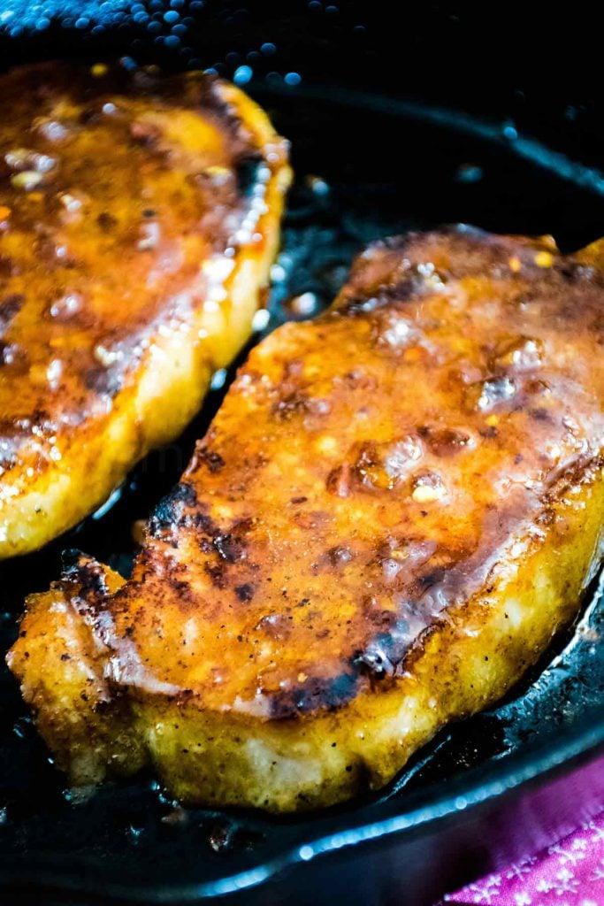 Honey Garlic Pork Chops Skillet Recipe For Two Grumpy S Honeybunch
