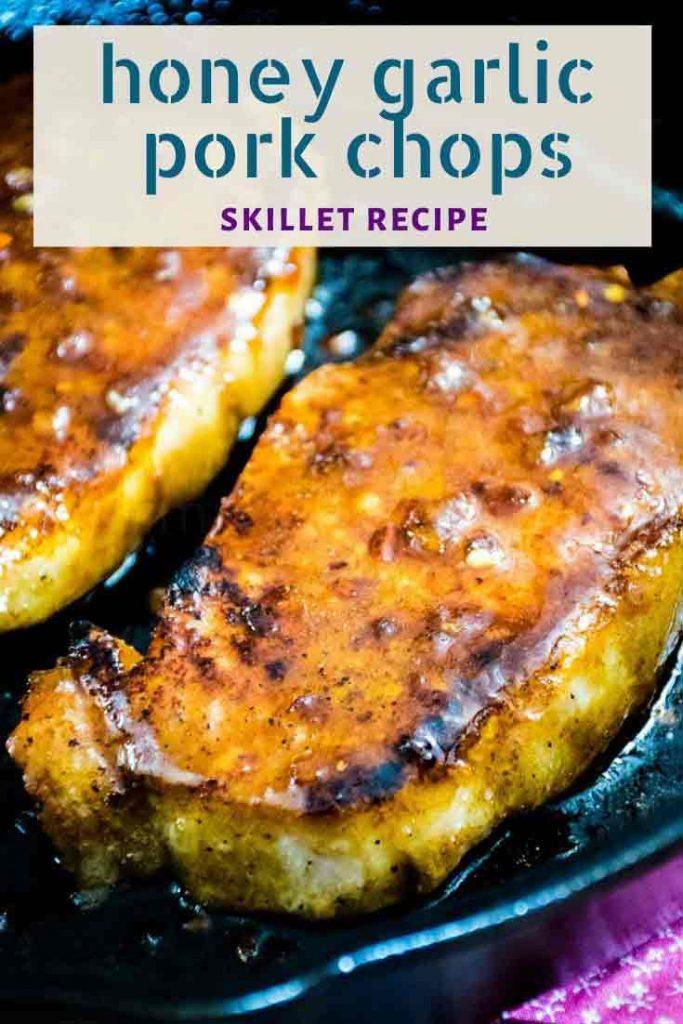 Honey Garlic Pork Chops pinnable image