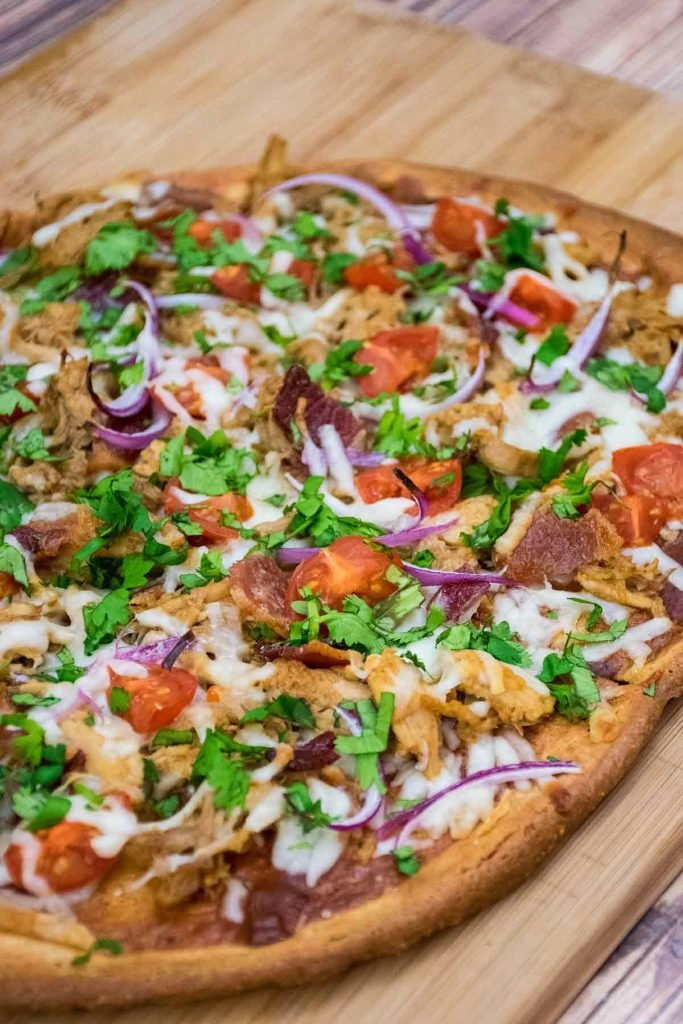Pulled Pork Pizza on a Keto Pizza Crust