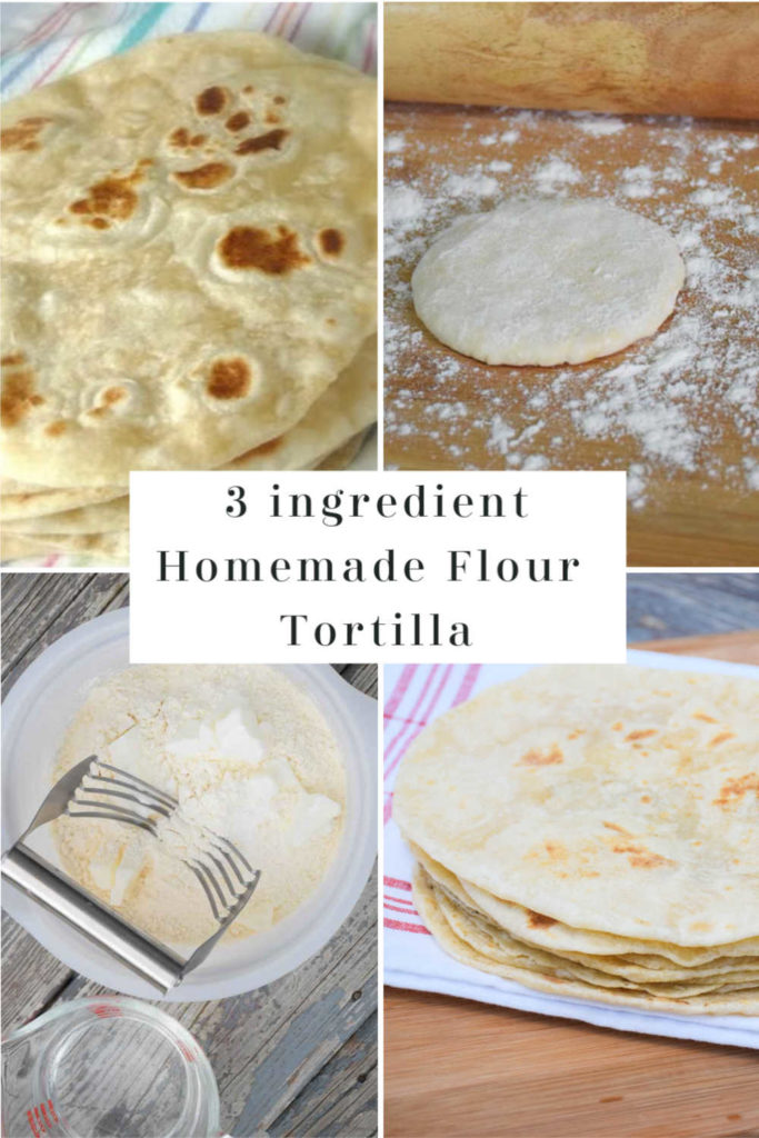 Pinnable Image for Homemade Flour Tortilla