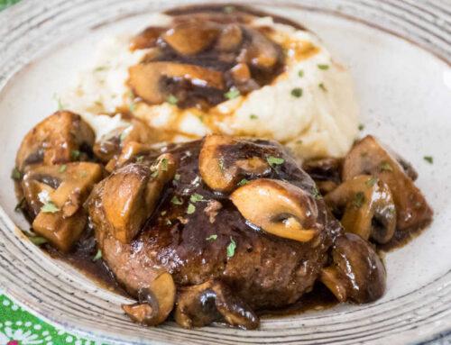 Hamburger Steaks Stroganoff – Paleo Keto
