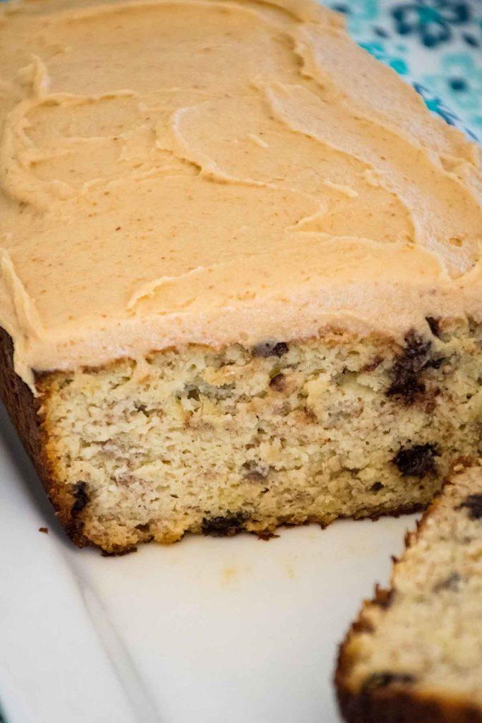 Keto Peanut Butter Frosting Recipe on quick bread