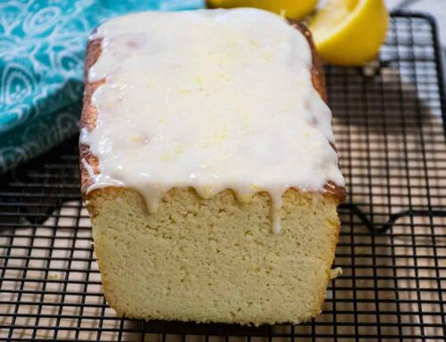 Keto Lemon Pound Cake with Lemon Icing