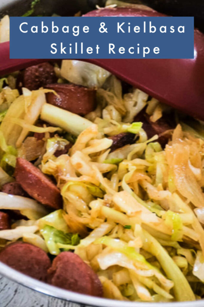 pinnable image for Cabbage and Kielbasa