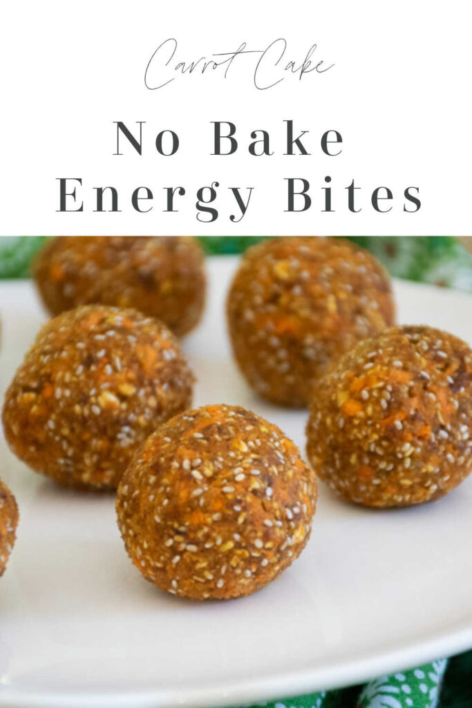 Pinnable Image for Carrot Cake Energy Bites