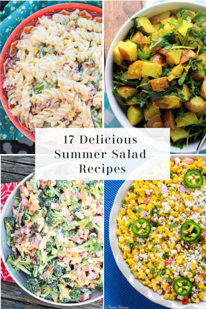 Summer Salad Recipes Pinnable Image