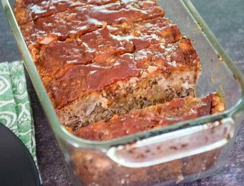 Lentil Loaf With Sweet and Sour Topping