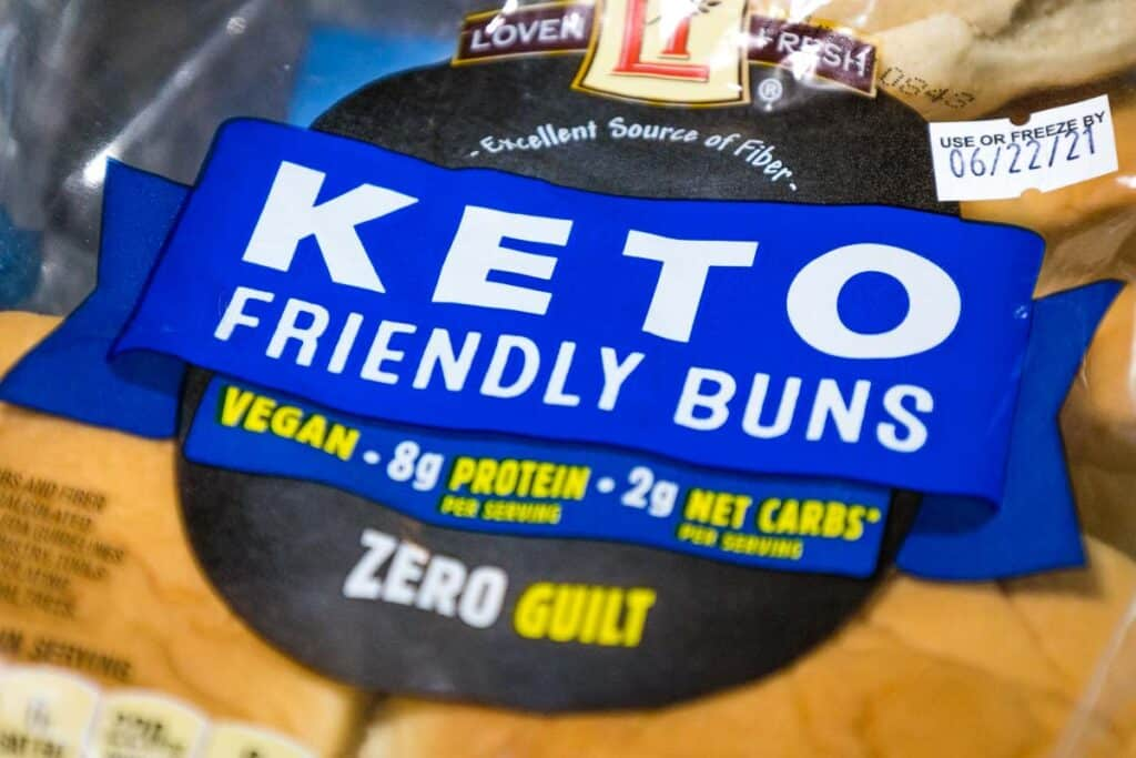 A package of keto friendly buns.